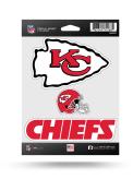 Kansas City Chiefs 3PK Auto Decal - Red