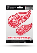 Detroit Red Wings 3PK Auto Decal - Red