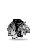 Chicago Blackhawks Molded Plastic Car Emblem - Silver