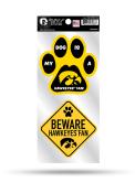 Iowa Hawkeyes 2-Piece Pet Themed Auto Decal - Yellow
