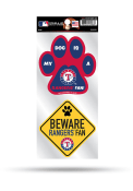Texas Rangers 2-Piece Pet Themed Auto Decal - Blue