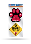 Chicago Bulls 2-Piece Pet Themed Auto Decal - Red