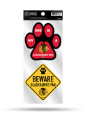 Chicago Blackhawks 2-Piece Pet Themed Auto Decal - Red