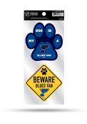 St Louis Blues 2-Piece Pet Themed Auto Decal - Blue