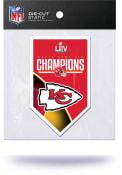 Kansas City Chiefs Super Bowl LIV Champions Die Cut Auto Static Cling