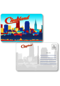 Cleveland Skyline Shape Cut Paper Postcard