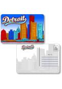 Detroit Skyline Shape Cut Paper Postcard