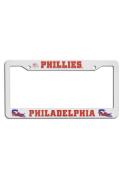 Philadelphia Phillies White Plastic License Frame