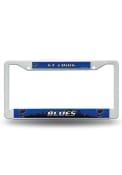 St Louis Blues White Plastic License Frame