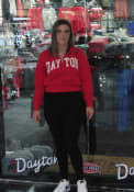 Dayton Flyers Womens Cropped 1/4 Zip Pullover - Red