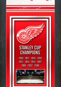 Detroit Red Wings Championship Banner Framed Posters