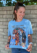 Wizard of Oz Womens Lions And Tigers And Bears T-Shirt - Light Blue