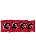 Calgary Flames Corn Filled Cornhole Bags Tailgate Game
