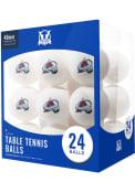 Colorado Avalanche 24 Count Balls Table Tennis