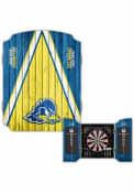 Delaware Fightin' Blue Hens Team Logo Dart Board Cabinet