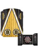 Boston Bruins Team Logo Dart Board Cabinet