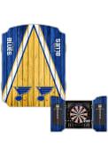 St Louis Blues Team Logo Dart Board Cabinet