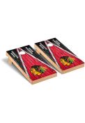 Chicago Blackhawks Weathered Triangle Version Cornhole Tailgate Game