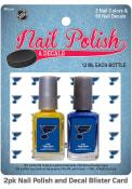 St Louis Blues Nail Polish Decal Set Cosmetics