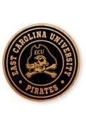 East Carolina Pirates Alder Wood Coaster