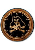 East Carolina Pirates Barrelhead Wall Clock