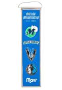 Dallas Mavericks 8x32 Heritage Banner