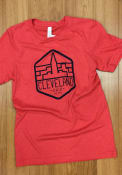 Cleveland Red Terminal Tower Trapezoid Short Sleeve T Shirt