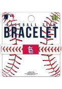 St Louis Cardinals Baseball Seam Bracelet - White