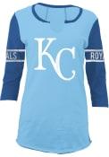 Kansas City Royals Womens Light Blue Slub Women's V-Neck