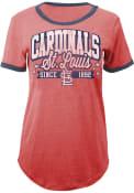 St Louis Cardinals Womens Red Tri-Blend T-Shirt