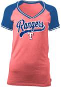 Texas Rangers Womens Red Opening Night V-Neck
