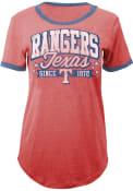 Texas Rangers Womens Red Tri-Blend T-Shirt