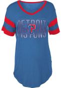 Detroit Pistons Womens Blue Training Camp T-Shirt