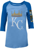 Kansas City Royals Womens Athletic Light Blue Scoop Neck Tee