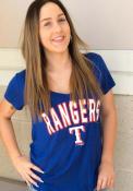 Texas Rangers Womens Blue Athletic T-Shirt