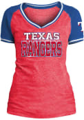 Texas Rangers Womens Blue Opening Night V-Neck