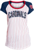 St Louis Cardinals Womens Opening Night White Scoop T-Shirt
