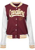 Cleveland Cavaliers Womens Slub Heavy Weight Jacket - Red