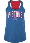 Detroit Pistons Womens Training Camp Racer Back Tank Top - Blue