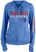 Detroit Pistons Womens Novelty Sweater Knit Full Zip Jacket - Blue