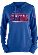 Detroit Pistons Womens Novelty Foil Hooded Sweatshirt - Blue