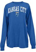 Kansas City Royals Womens Comfort Colors T-Shirt - Blue