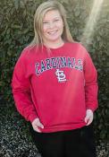 St Louis Cardinals Womens Comfort Colors T-Shirt - Red