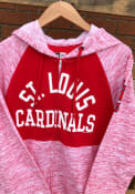 St Louis Cardinals Womens Novelty Space Dye Contrast Full Zip Jacket - Red