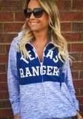 Texas Rangers Womens Novelty Space Dye Contrast Full Zip Jacket - Blue