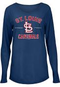 St Louis Cardinals Womens Timeless Natalie T-Shirt - Navy Blue