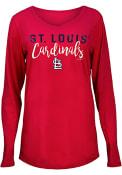 St Louis Cardinals Womens Timeless Taylor T-Shirt - Red