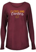 Cleveland Cavaliers Womens Timeless Taylor T-Shirt - Maroon