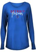 Detroit Pistons Womens Timeless Taylor T-Shirt - Blue