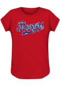 Texas Rangers Girls Flip Sequin Fashion T-Shirt - Red